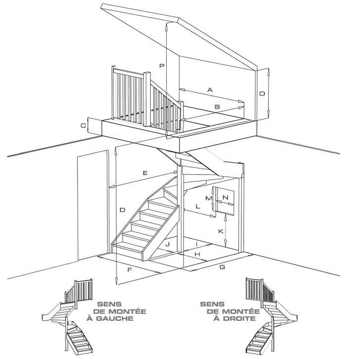 escalier 2 4 tournant escaliers pinterest. Black Bedroom Furniture Sets. Home Design Ideas