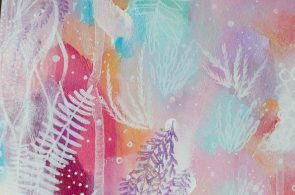 Abstract Art, Original Painting,Colorful Wall Art,  Floral, Eco, Girly Decor