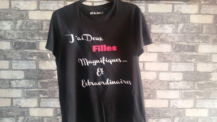 J'ai ... filles - Tee-shirt flex coton à personnaliser