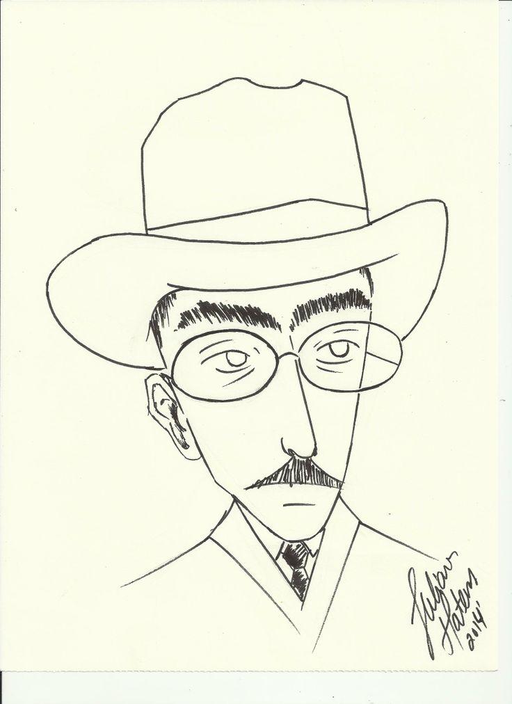 'Fernando Pessoa', cartoon, JulianaMateus'2014'February