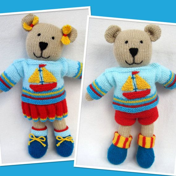 29 best images about knitted teddy bears on Pinterest