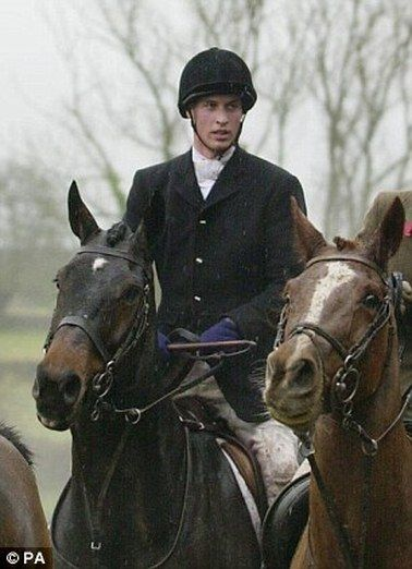 Prince William riding in the Beaufort Hunt. PA
