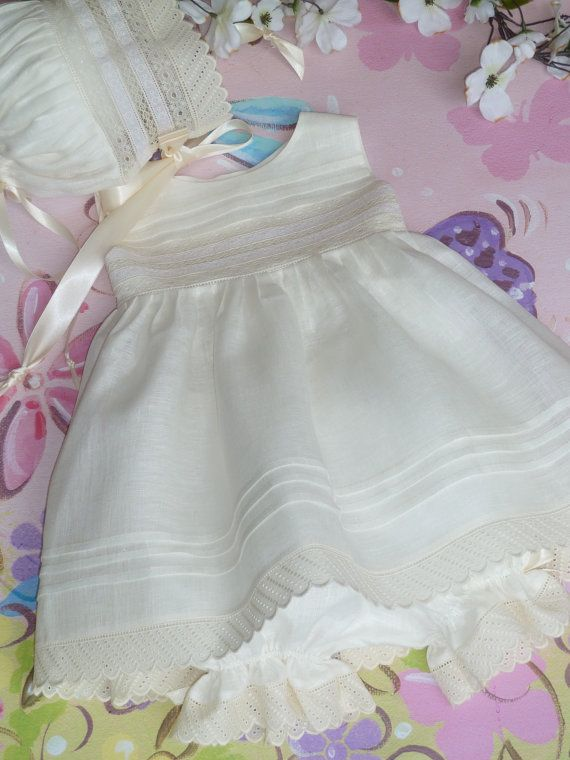 Handmade Girl's Heirloom Dress / Available by justforbabyonline