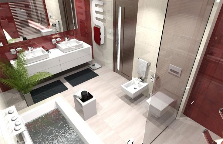 Veľká, no útulná kúpeľňa... Viac náhľadov tejto vizualizácie na: Kupelnovy-manual.sk