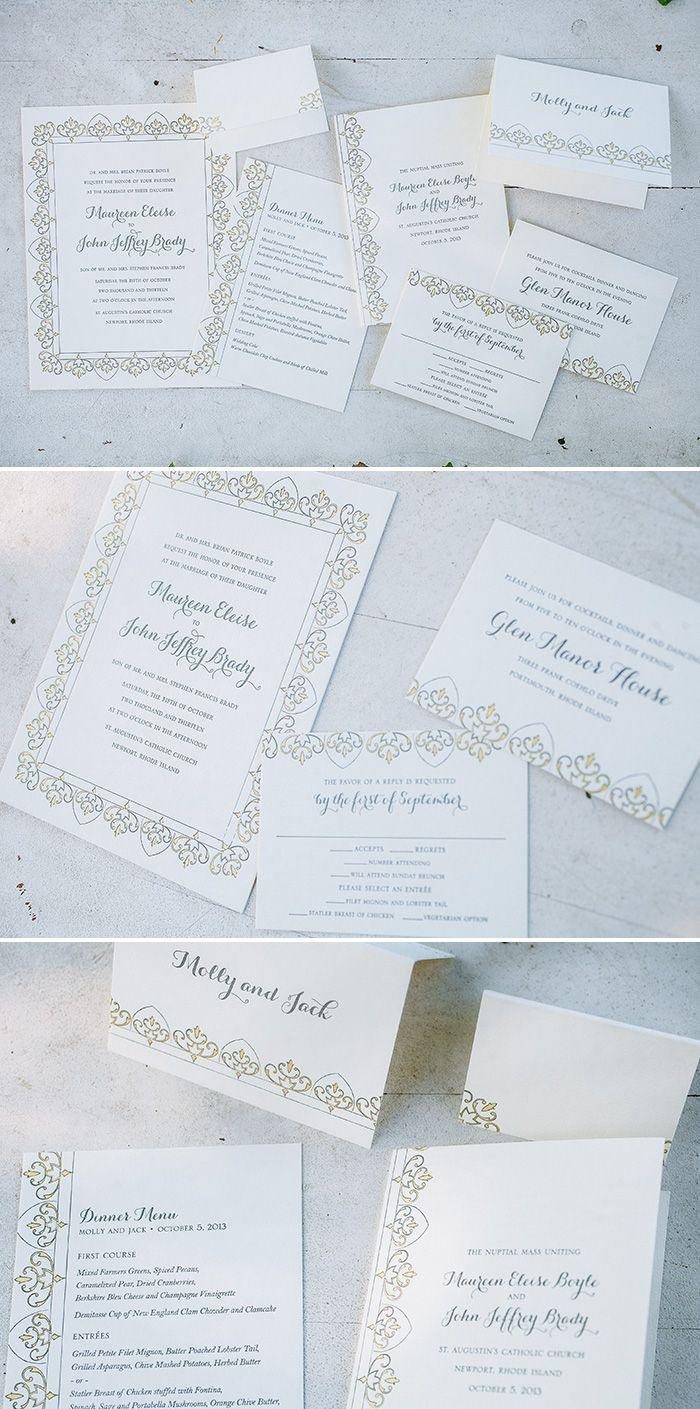 Claddagh letterpress wedding invitations | Bella Figura