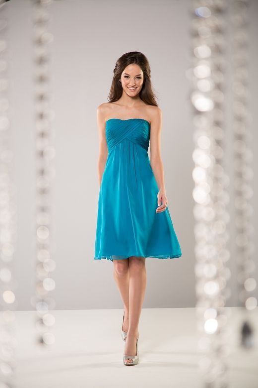 Comes in floor length, lagoon color