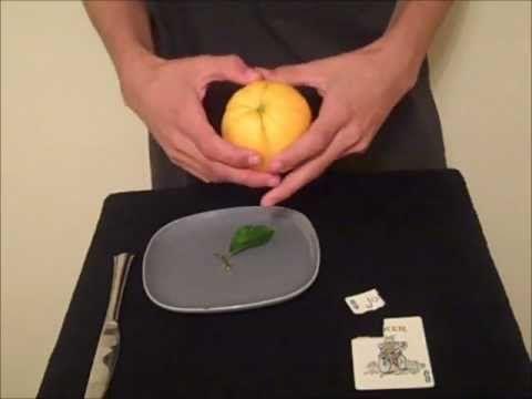 Card to Lemon/Orange Trick Revealed - YouTube