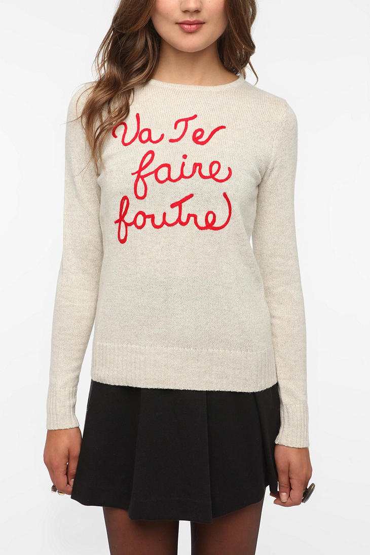 """ Go F*** Yourself "" ... sweetly.   @urbanoutfitters #sarcastic #fashion"