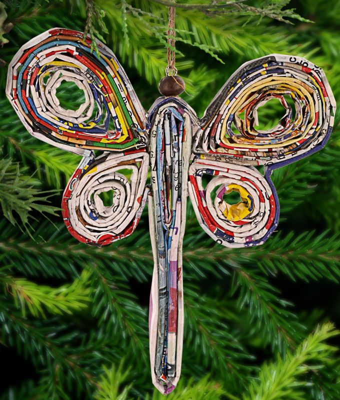 Recycled+Magazine+Dragonfly+Ornament+at+The+Rainforest+Site