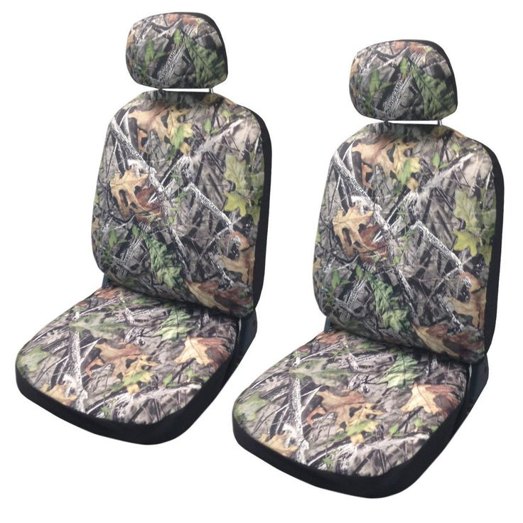 Unique Camo Seat Cover Pair Front Row Camouflage Forest (Green) Gray Subaru Impreza (Color)
