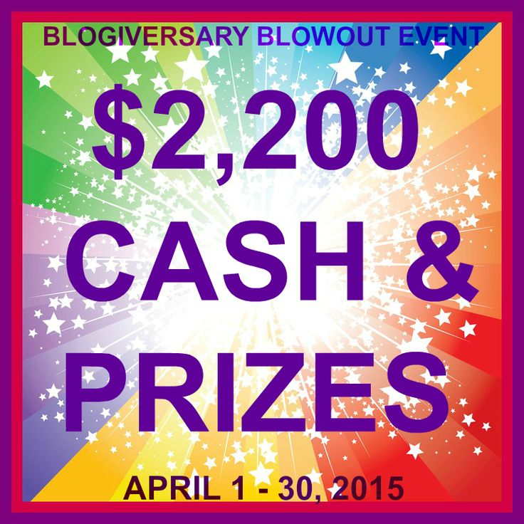 Blogiversary Blowout Giveaway! $2200 in cash & prizes! {ends 4/30} | Dorky's Deals