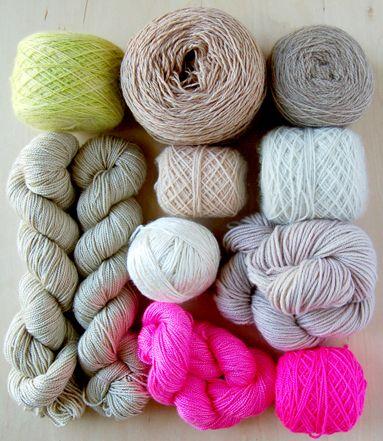 knitColors Combos, Color Palettes,  Woolen, Purl Soho, Colors Palettes, Colors Schemes, Hot Pink, Colours Palettes,  Woollen