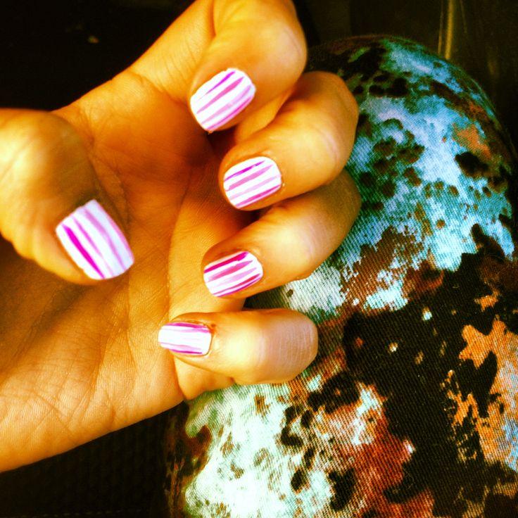 summer festive nails, splashes and stripes