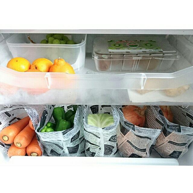 コストコ/キャンドゥ/水切りゴミ袋/野菜室/冷蔵庫の中/キッチン…などのインテリア実例 - 2016-06-13 11:46:00 | RoomClip(ルームクリップ)
