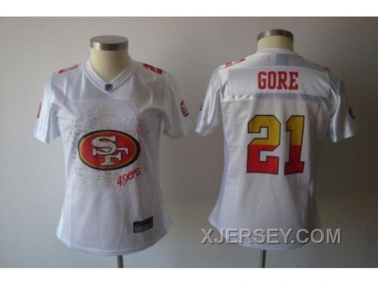 http://www.xjersey.com/discount-women-nfl-san-francisco-49ers-21-gore-white2011-fem-fan.html DISCOUNT WOMEN NFL SAN FRANCISCO 49ERS #21 GORE WHITE[2011 FEM FAN] Only 32.17€ , Free Shipping!