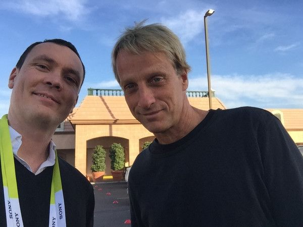 Sylvain from HEXO+ and Tony Hawk, legend !