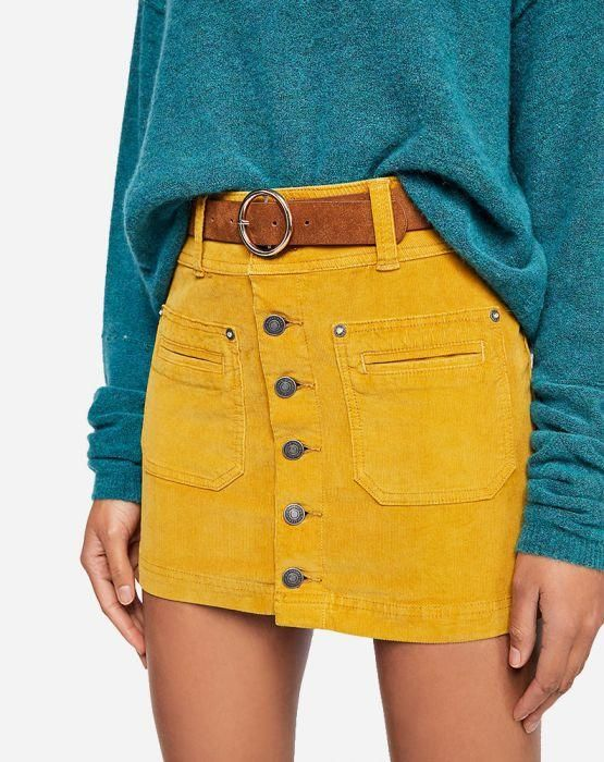4bc9db4cf9 Joanie Cord Skirt in 2019 | Outfits: Looks To Recreate | Yellow ...