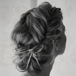 classic yet modern hairstyle . i love it ~b