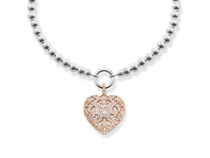 Sterling Silver Heart with Rose gold plating from Thomas Sabo