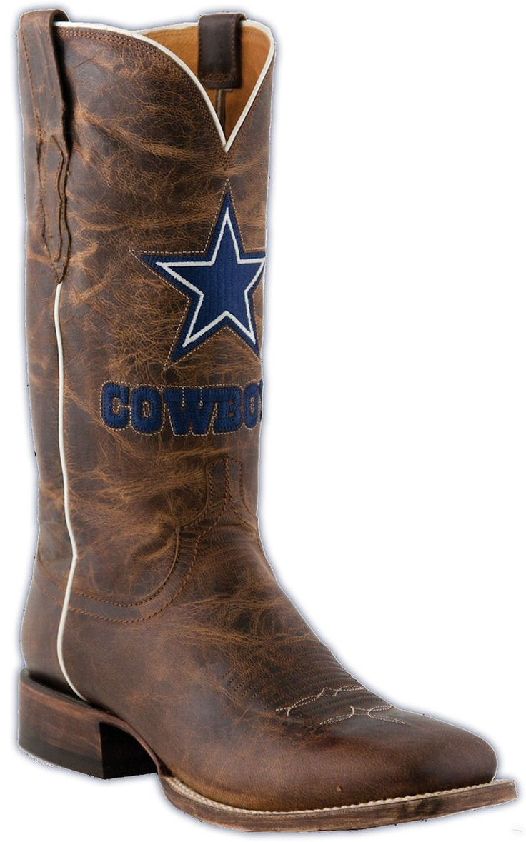 Step out in like a true fan while you cheer on your Dallas Cowboys in these  Lucchese boots. Crafted of beautiful Madras Goat leather.