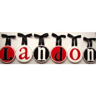 Bday idea:loose the bows use red ribbon, paper plates and asian style letters