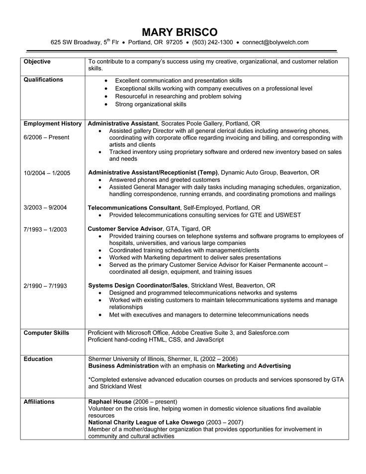 Reverse Chronological Resume Template Doc
