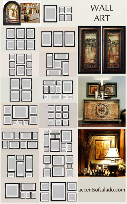 15 templates how to arrange wall art and mirrors happy - Arranging pictures on a wall ...