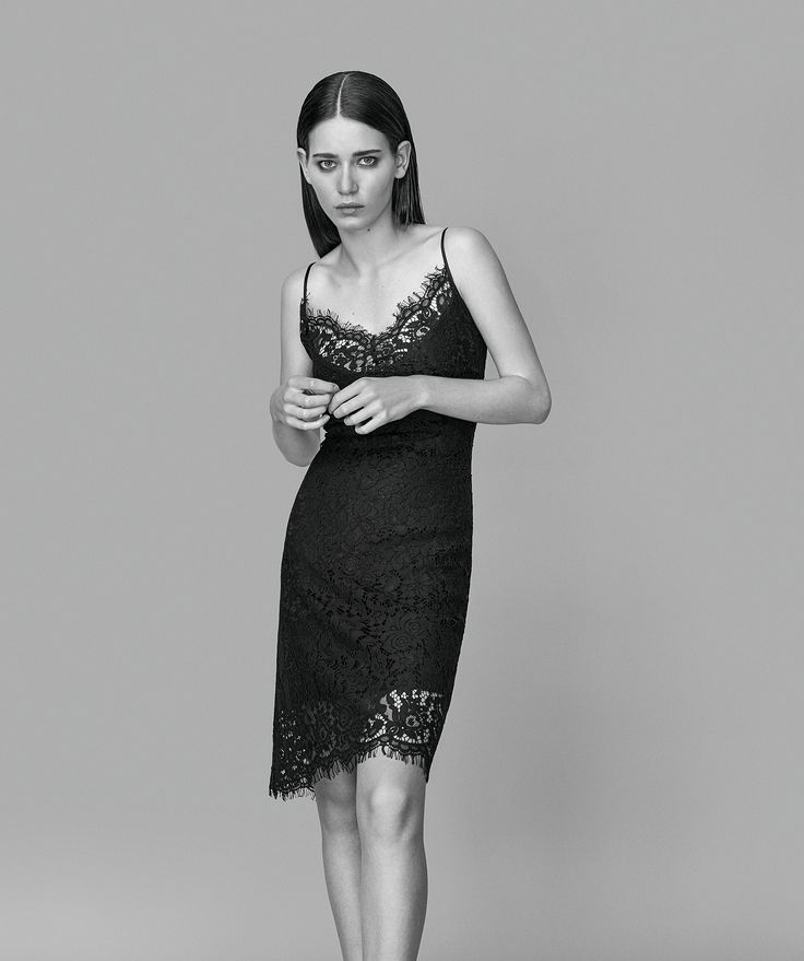 Sol Satina Lace is a super feminine lace dress with a delicate and sensual cut. The dress has a tight fit and thin straps.