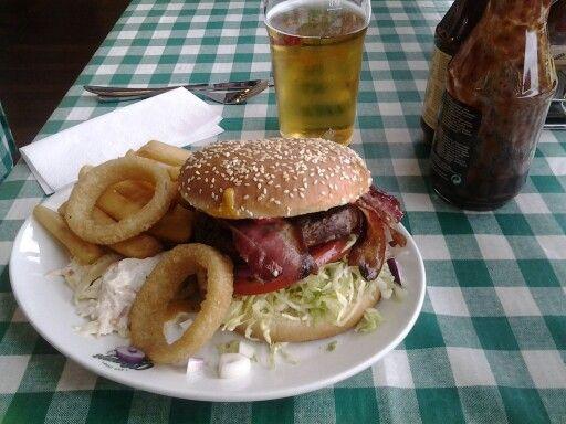 Areoporto a Copenaghen... bacon burger time!!