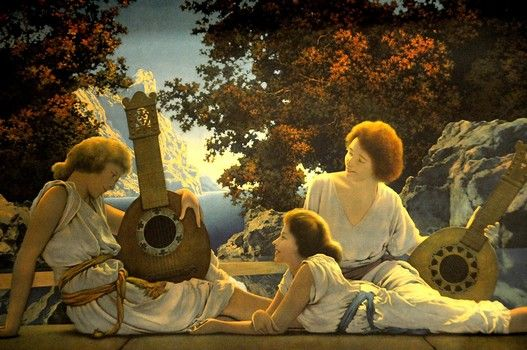 The largest exhibit of works by American illustration artist Maxfield Parrish, one of the most heralded of the Golden Age of Illustration, is on view at the Nassau County Museum of Art.