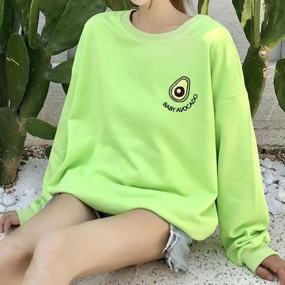 af08be10afd avocado aesthetic grunge sweatshirt outfit green boogzel apparel