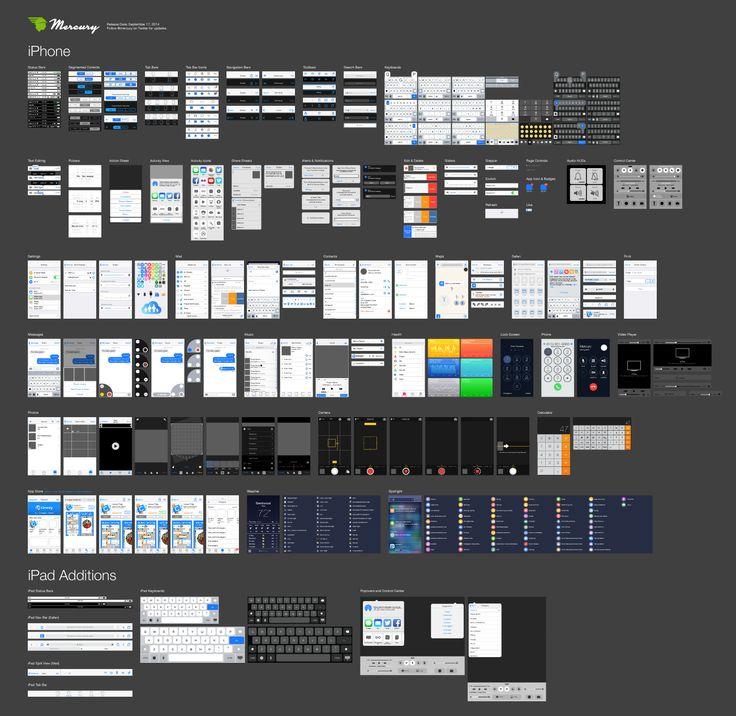 Incredibly Detailed iOS 8 Vector GUI