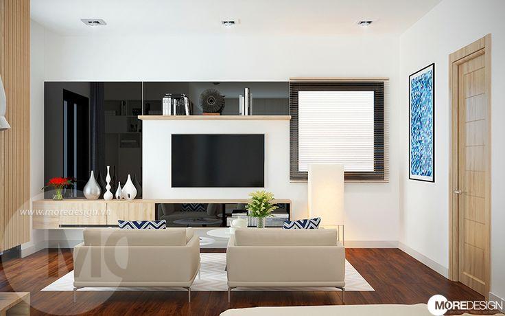 Thiết kế nội thất căn hộ 1 phòng ngủ hiện đại