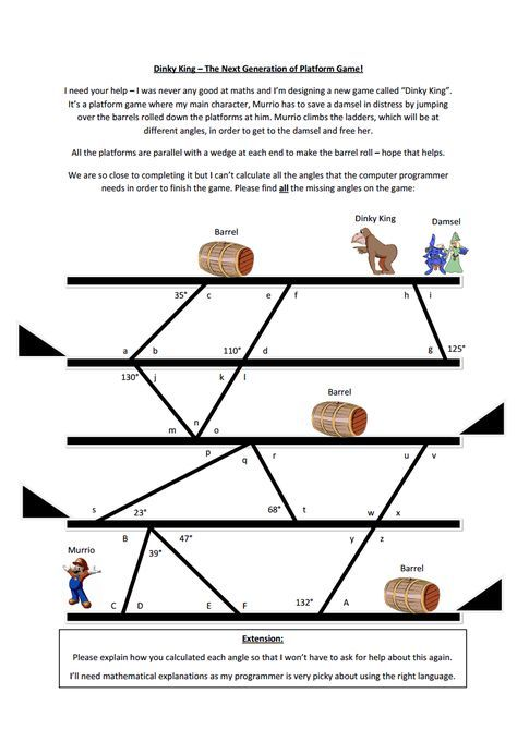 29 best Angle Relationships images on Pinterest Math middle school