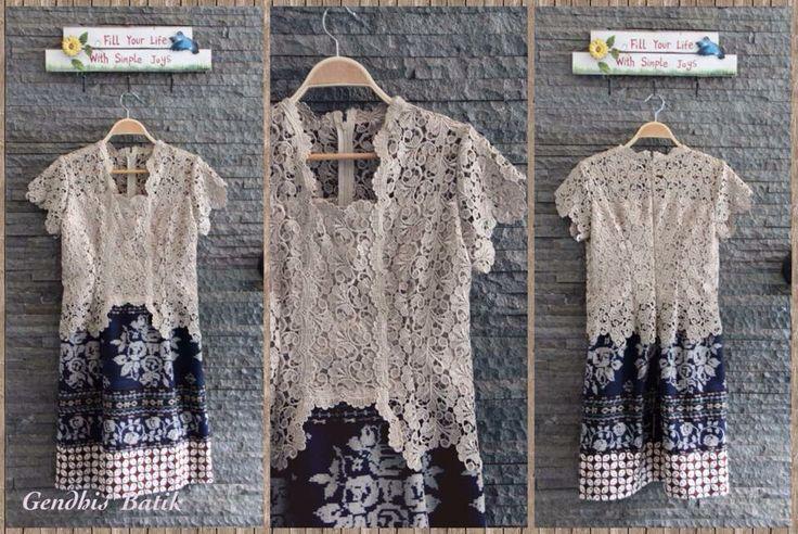 Tenun Maumere Lawas +lace prada halus + Lining tricot halus + furing. By Gendhis Batik.