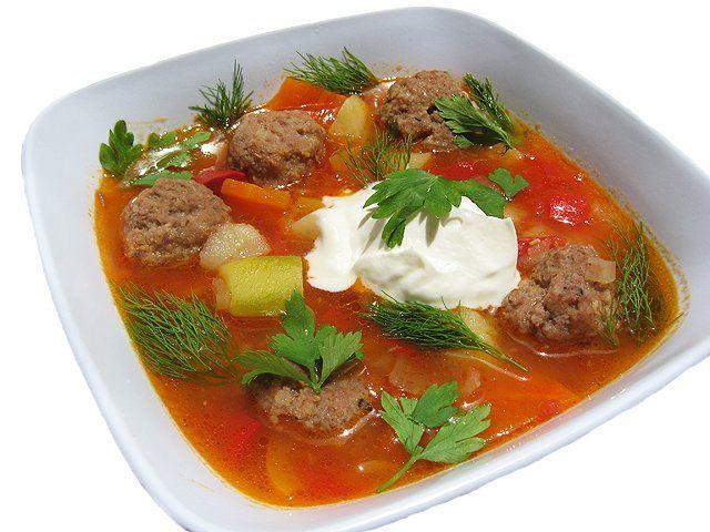 163. Густой суп с кабачками и фрикадельками