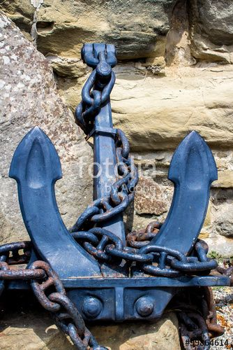 #anchor #chained #rock #ancient