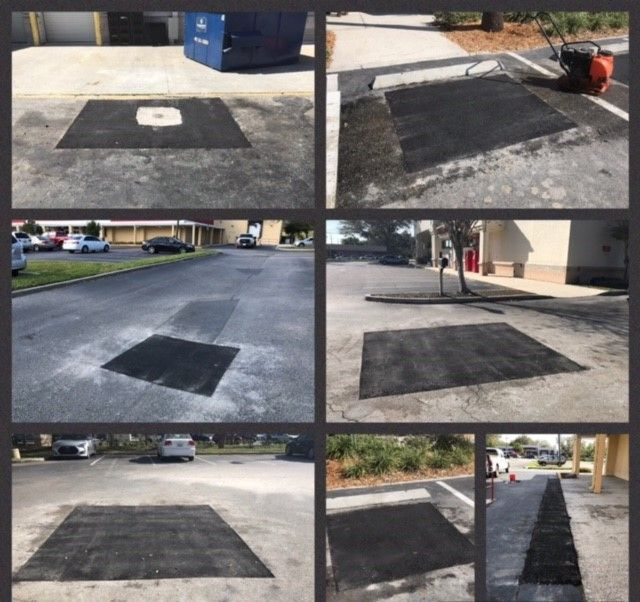 Did you know we offer Patching Services?  Failed areas or liability issues on your parking lots and roadways are justifiably important concerns. But the presence of these issues does not mean that repaving or other major scopes of work are necessary. Our proven technique of patching asphalt allows for of repair these particular areas in a cost-effective way. Please visit our website at: http://www.pavingandsealcoating.com/ Here are some various Completed #Asphalt #Patching jobs by our ABC…