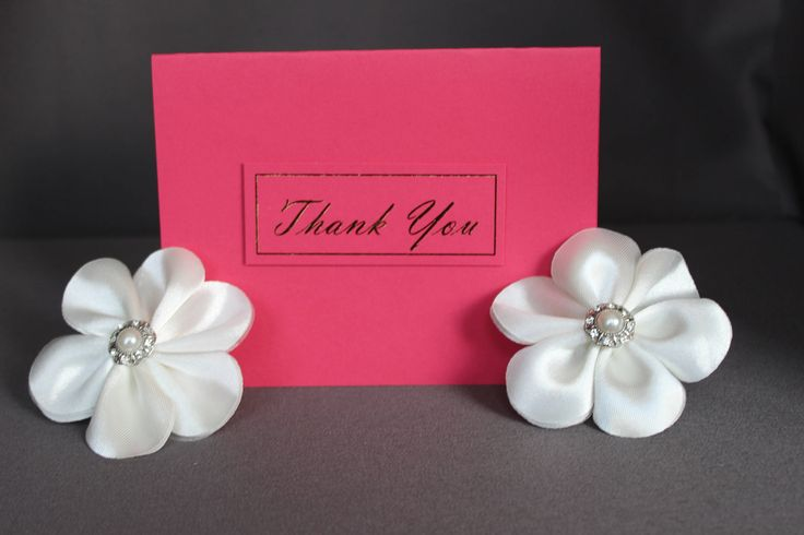 Pink Thank You Card With Gold Foil by DazzlingCreationsCA on Etsy