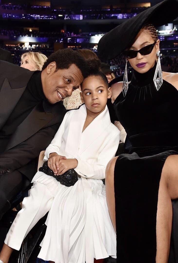 Beyonce Jay Z Blue Ivy At The 60th Grammy Awards 28th January 2018 Blue Ivy Jay Z Blue Famous Moms