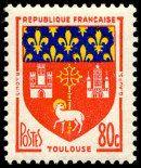 Armoiries de Toulouse Armoiries des villes de France (Troisième série) - Timbre de 1958