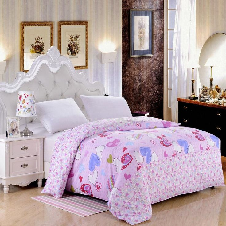 pink heart polyester twinqueen size duvet cover on httpwww