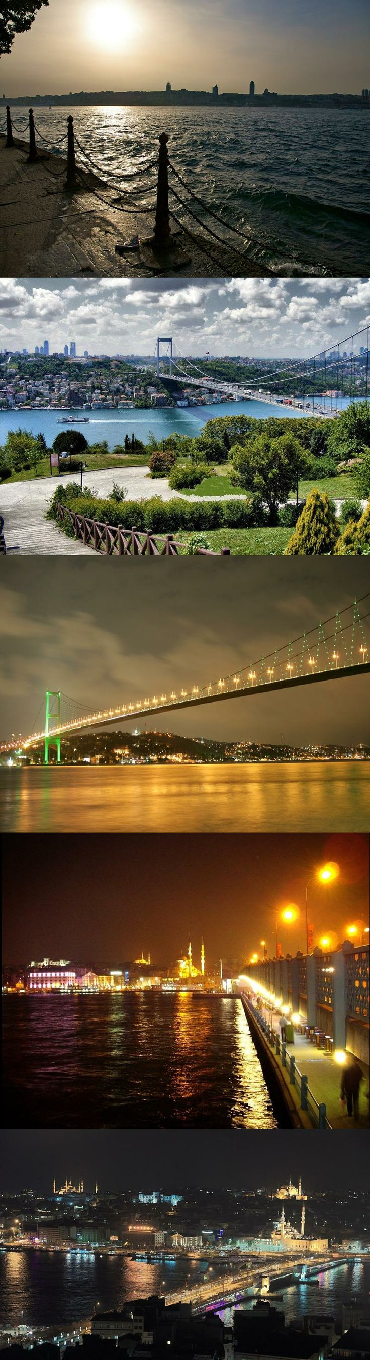 bosphorus night Istanbul Turkey