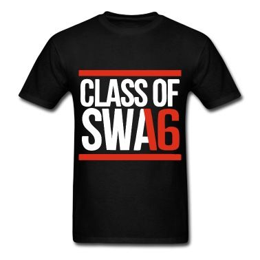 CLASS OF SWAG (2016) red with bands T-Shirt   Spreadshirt   SENIOR SHIRTS 2016