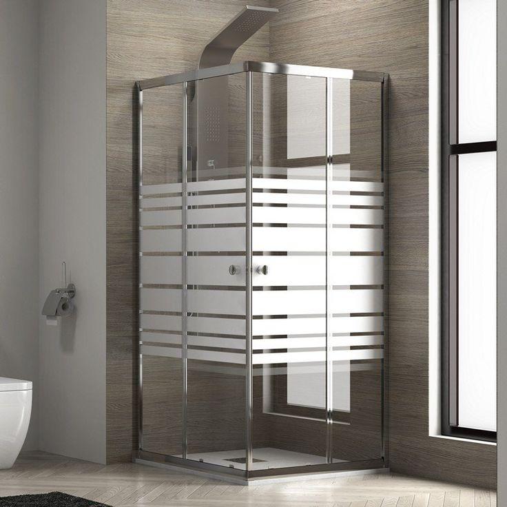 Box doccia con vetro serigrafato 70x70 Economico