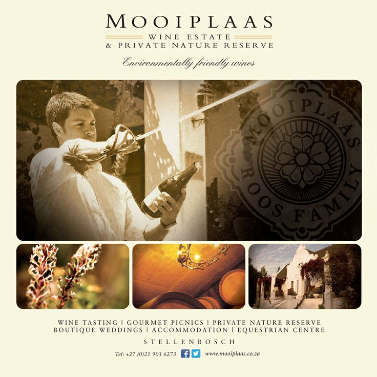 Set amongst majestic mountains, fertile valleys and surrounded by two mighty oceans, Mooiplaas Wine Estate and Private Nature Reserve boasts a pristine natural beauty.  The history of the farm dates back to 1806, with the Manor House on the Estate as a rare example of the Cape Dutch building style: in the form of the letter H with a neo-classical gable, with the date 1833 engraved to indicate its impressive heritage. In 1989, the Manor House was declared a National Monument.