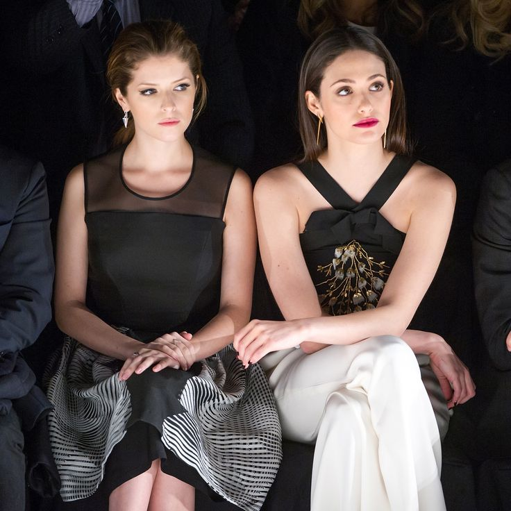 Anne Kendrick and Emmy Rossum | Fall/Winter 2014 via StyleList Carolina Herrera