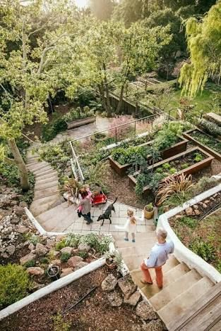 Resultado de imagem para natural garden path slope #LandscapingOnAHill