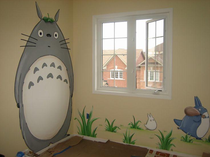 OOOOOO!!!!!     Magic Mural: Totoro and friends