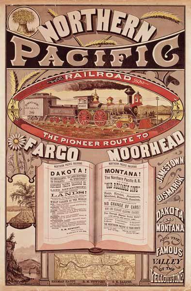 American School-Northern Pacific Railroad Advertisement